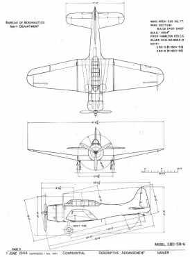 Figure 1-5: Archival Dauntless drawing (BuAer, 1944)