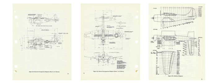 Figure 6-1 The SBD-6 drawings from the Douglas manual