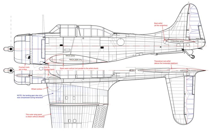 Figure 6-2 The SBD-5: updated side and top views