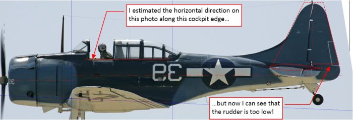 Figure 7-6 My initial error: wrong orientation of the reference photo