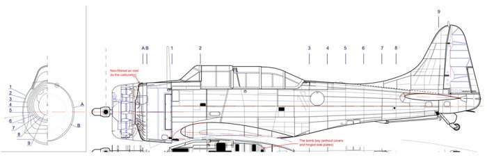 Figure 9-4 Additional information: fuselage cross-sections