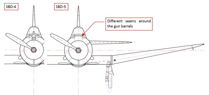 Differences between Dauntless Versions (SBD-5 and SBD-6