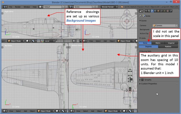 Figure 12-1 Initial setup of the reference images (in Blender)
