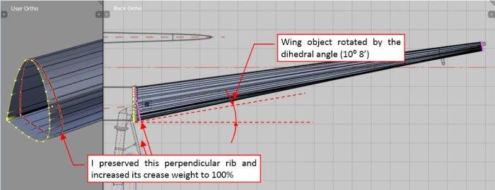 Figure 12-4 Adjusting the wing dihedral