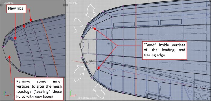 Figure 12-5 Shaping the rounded wing tip