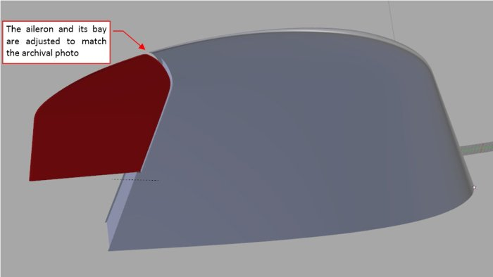 Figure 14-8 Updated shapes of the aileron and its bay