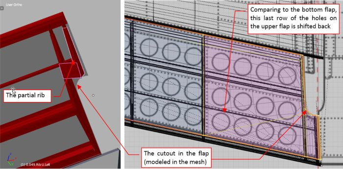 Figure 16-5 Details of the upper flap