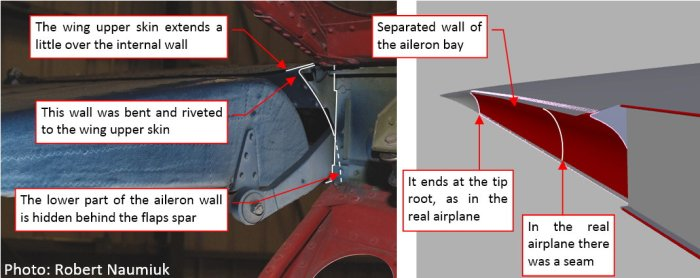 Figure 17-1 Internal wall of the aileron bay