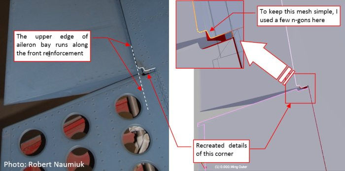 Figure 17-4 Details of the wing skin corner (at the aileron root rib)
