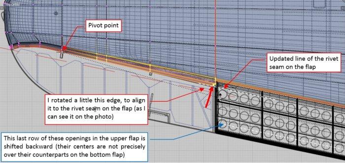 Figure 17-5 Applying minor fix to the edge of aileron bay