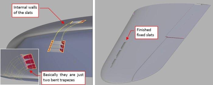Figure 17-8 Adding internal walls of the fixed slats