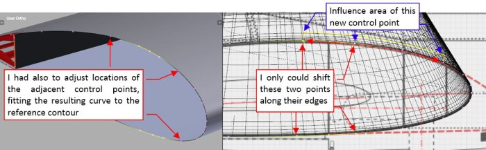 Figure 18-5 Fitting the modified curve to the wing airfoil