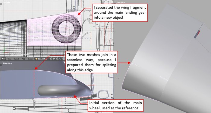 Figure 18-9 Separated part of the center wing section