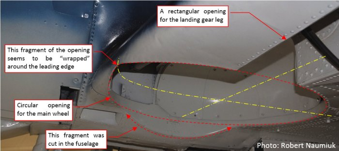 Figure 19-1 Landing gear bay in the SBD Dauntless
