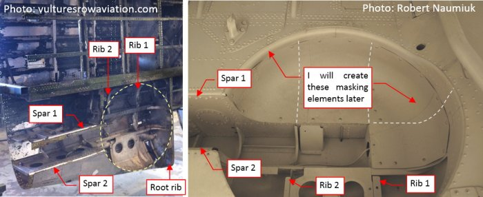 Figure 20-1 Key spars and ribs of the wheel bay