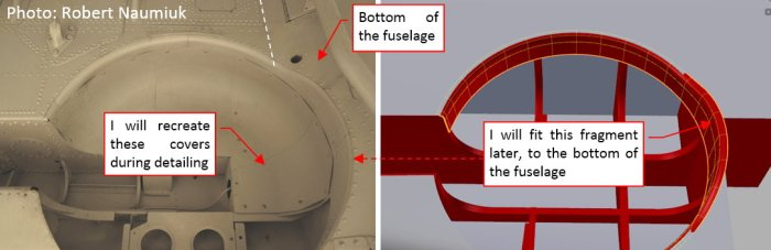 Figure 21-1 The flange around the wheel bay