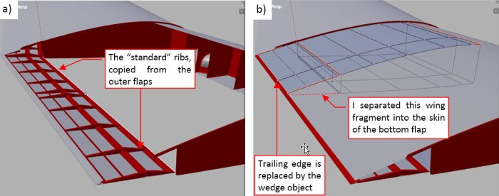 Figure 21-6 Complete bottom flaps and modified center wing trailing edge