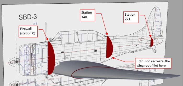 Figure 22-1 The key bulkheads of the SBD fuselage