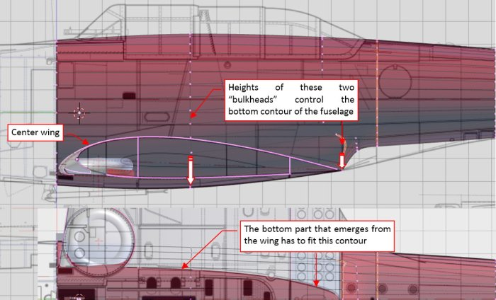 Figure 22-7 Fitting the bottom part of the fuselage
