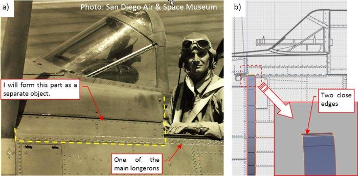 Figure 23-2 Details of the cockpit edge