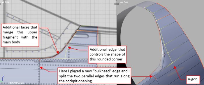 Figure 23-8 Shaping the cockpit rear edge