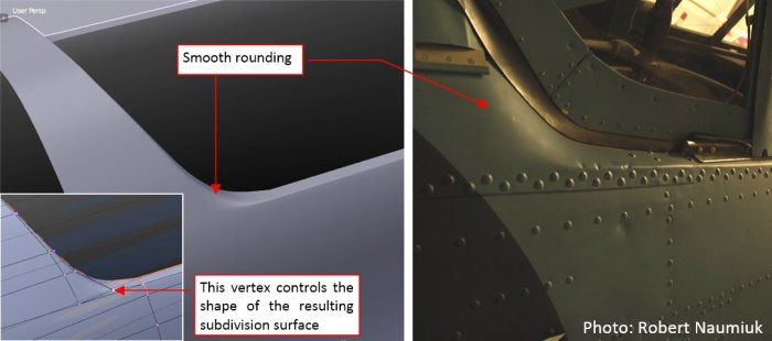 Figure 23-9 Shaping the cockpit rear edge