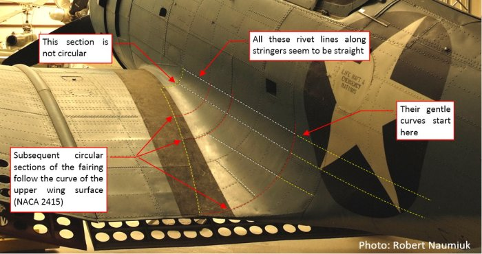 Figure 24-3 Details of the Dauntless wing root fairing