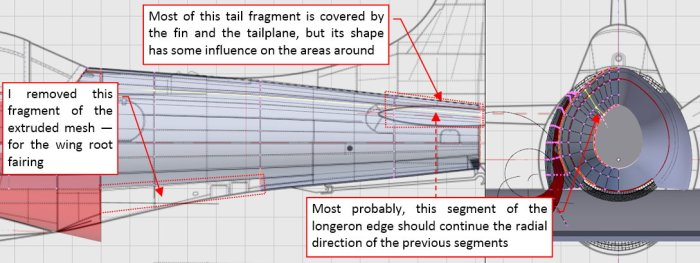 Figure 24-7 A minor issue in the first version of the tail mesh