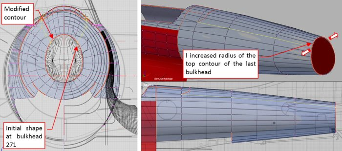 Figure 24-8 Fixing the shape of the last bulkheads