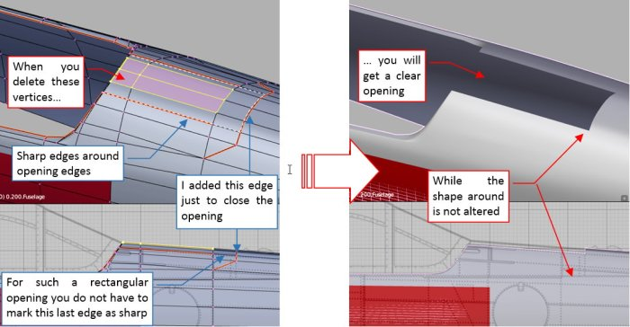 Figure 24-9 Cutting the opening for the gun doors