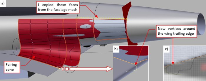Figure 25-1 New elements of the fairing mesh