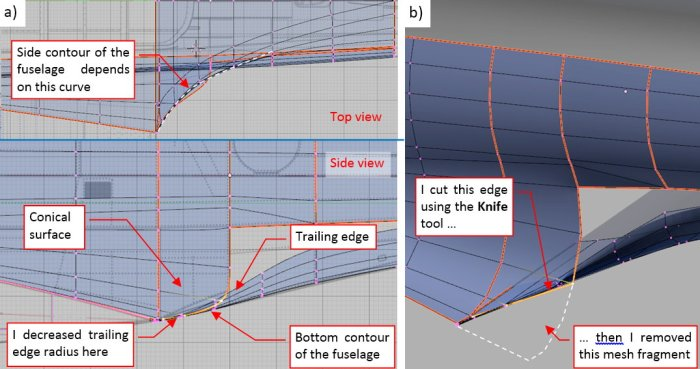 Figure 25-5 Further adjustments of the upper and lower fairing surfaces