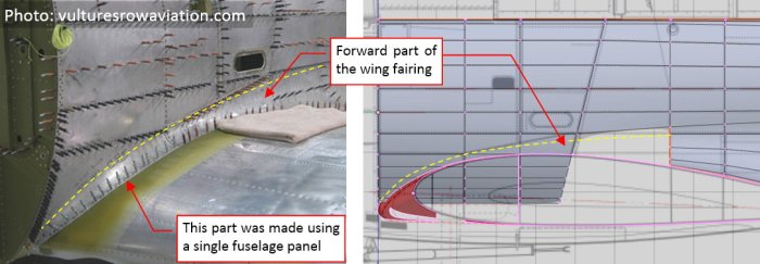 Figure 26-1 Forward part of the wing root fairing in the SBD Dauntless