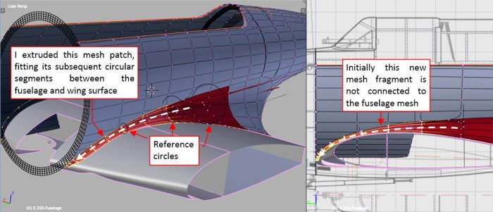 Figure 26-2 Extruded mesh of the forward fairing