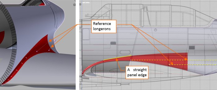 Figure 26-3 Fitting the fairing shape to the straight fuselage longerons