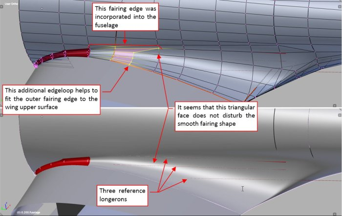 Figure 26-4 Merging another fairing fragment with the fuselage