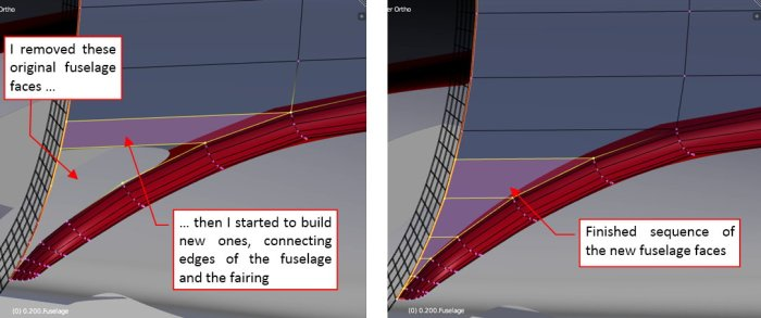 Figure 26-6 Merging the fuselage with the wing root fairing