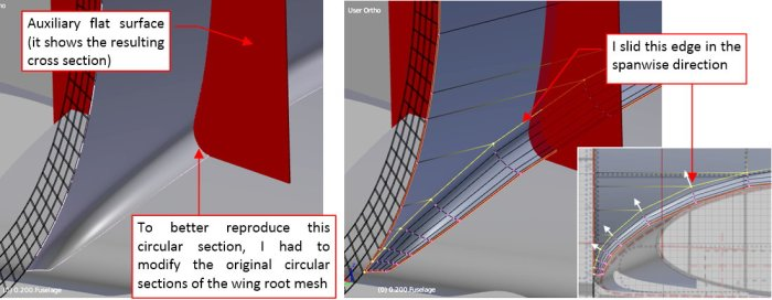 Figure 26-7 Adjusting the shape of the fairing cross-section
